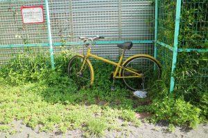 2016年5月7日 放置自転車 6月には撤去されていました。